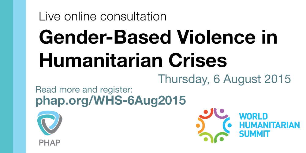 WHS- Gender-Based Violence in Humanitarian Crises