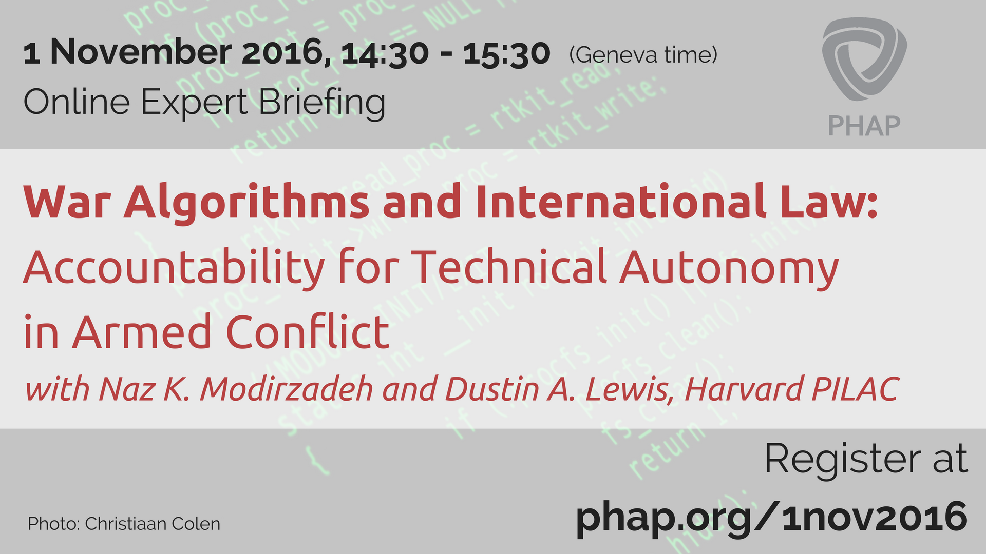 Expert Briefing: War algorithms and international law