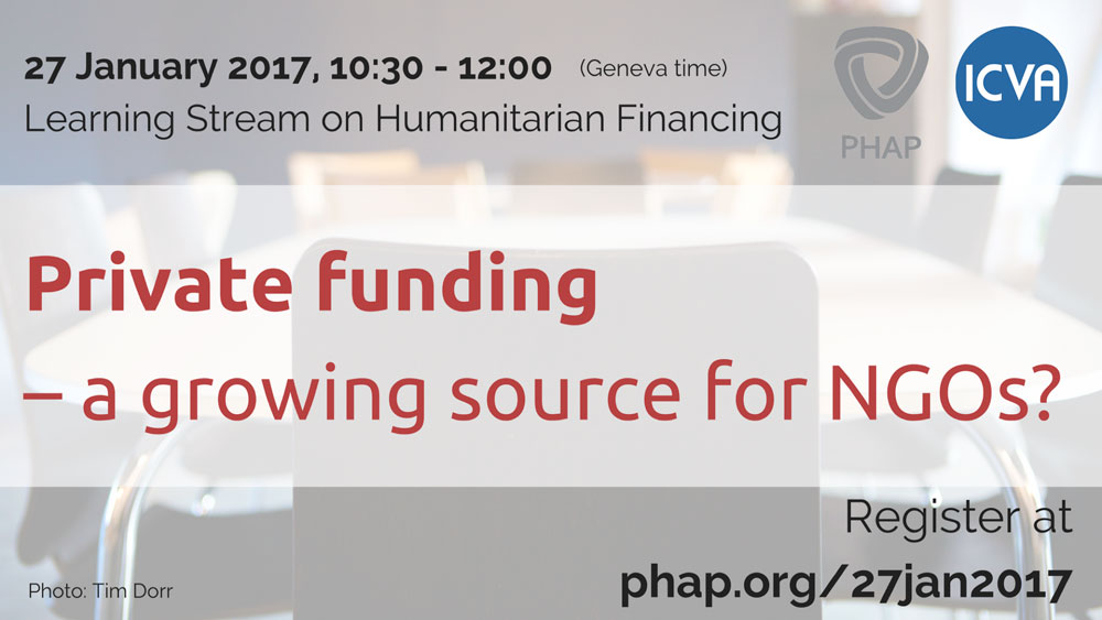 Private funding – a growing source for NGOs?