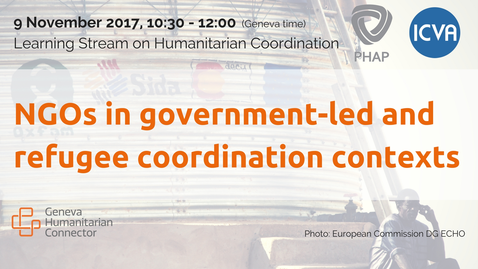 NGOs in government-led and refugee coordination contexts