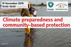 Climate, preparedness, and community-based protection