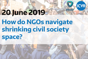 How do NGOs navigate shrinking civil society space?