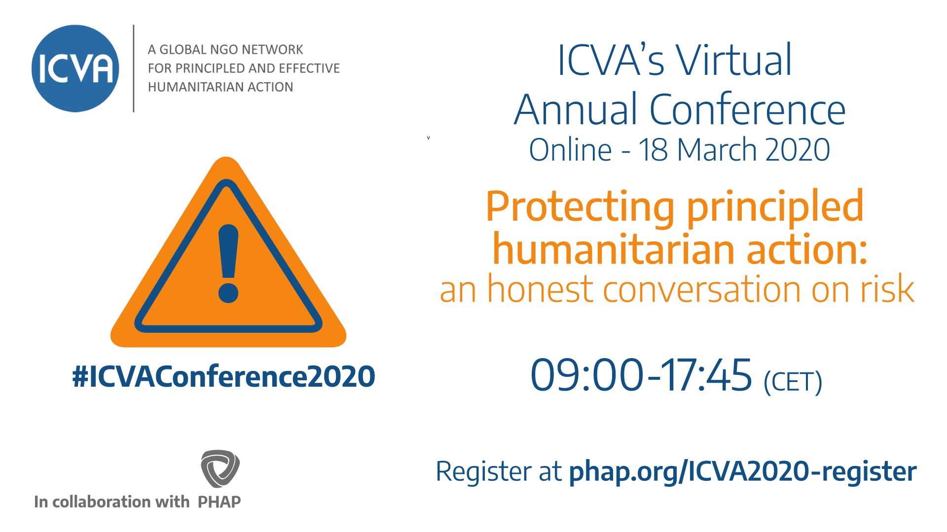 Banner for the ICVA Annual Conference 2020