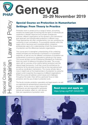 Brochure for the Brussels 2019 Advanced Professional Training on Humanitarian Law and Policy