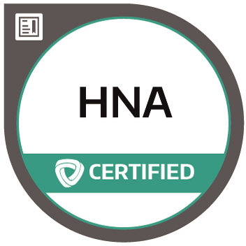 Certification badge for Humanitarian Needs Assessment (HNA)