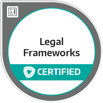 Certification badge for International Legal Frameworks for Humanitarian Action (ILFHA)
