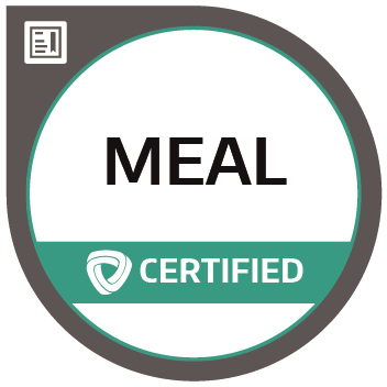 Certification badge for Monitoring, Evaluation, Accountability, and Learning (MEAL)