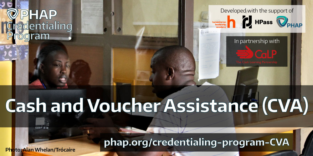 Cash and Voucher Assistance (CVA) certification