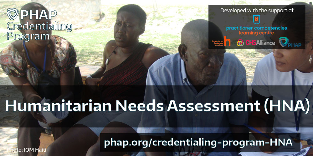 Humanitarian Needs Assessment certifications
