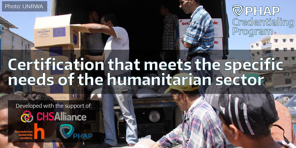 Certification that meets the specific needs of the humanitarian sector