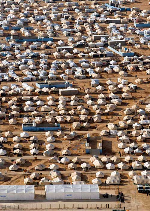 Aerial view of Za'atri refugee camp