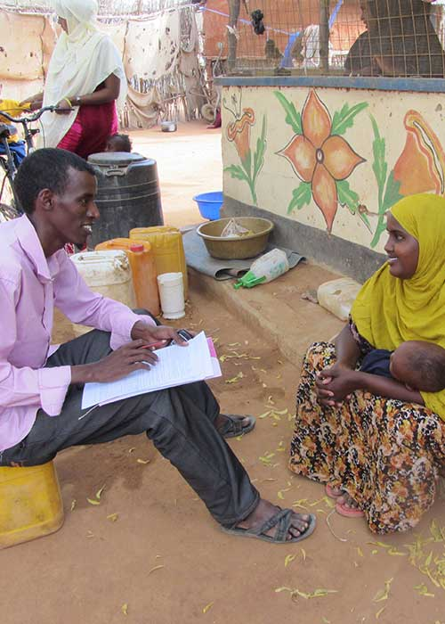 Interview to evaluation communications in a camp