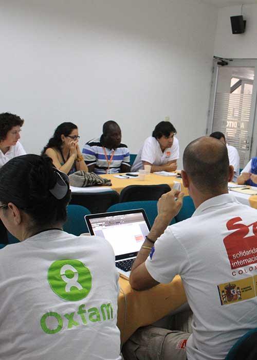Meeting with representatives of several international NGOs