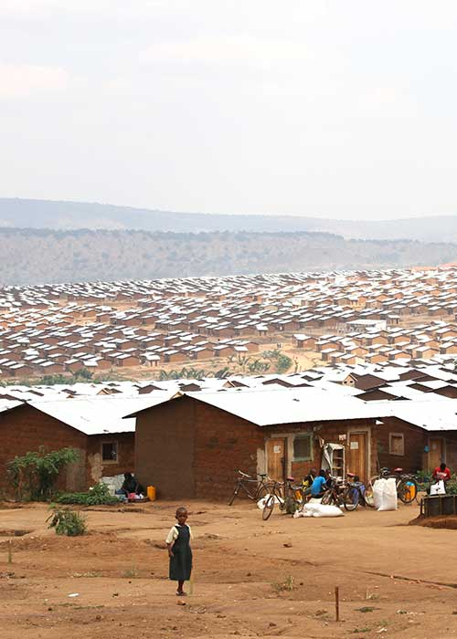View over a refugee camp