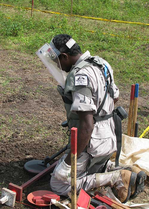 Demining in Sri Lanka