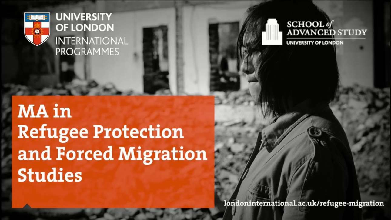 University of London Refugee Protection and Forced Migration Studies Banner