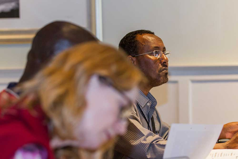 Participants during one of PHAP's courses on humanitarian law and policy